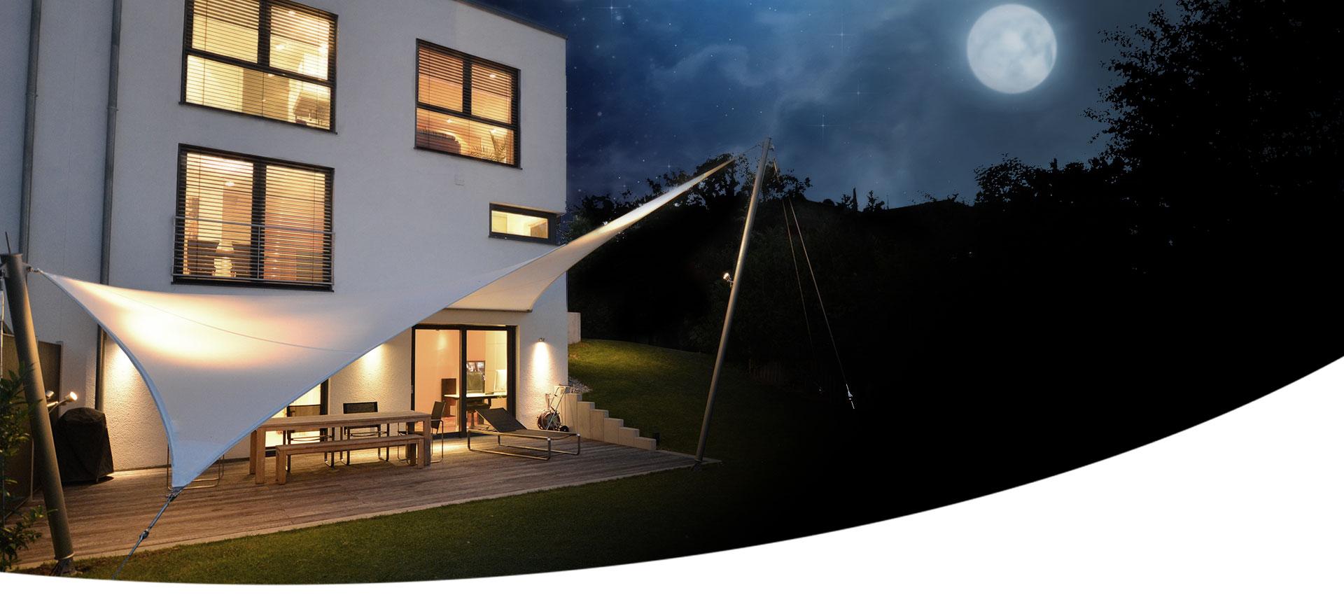 aeronautec Mehrpunkt Sonnensegel für Terrasse & Garten | optimaler Sonnen- und Wetterschutz, wasserdicht und sturmsicher