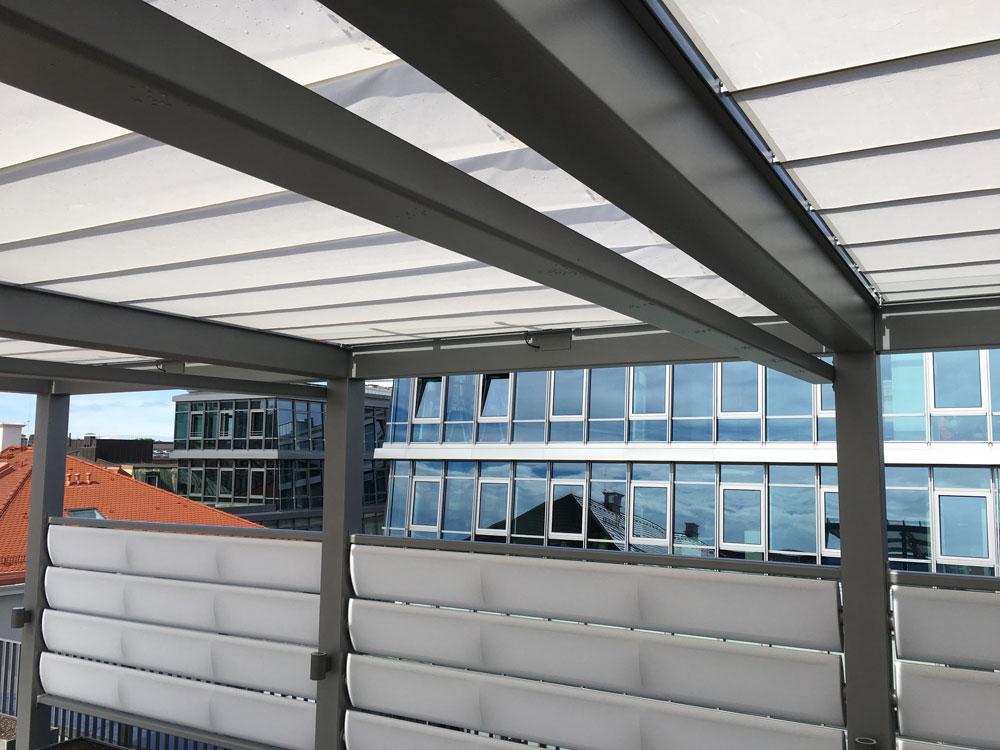 aerosun® Reffmembrane, Sonnenschutz, Sichtschutz, verfahrbar, automatisch