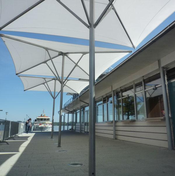 Schirm aeronautec aerosun Architekturschirm, Grossschirm, UV-Schutz