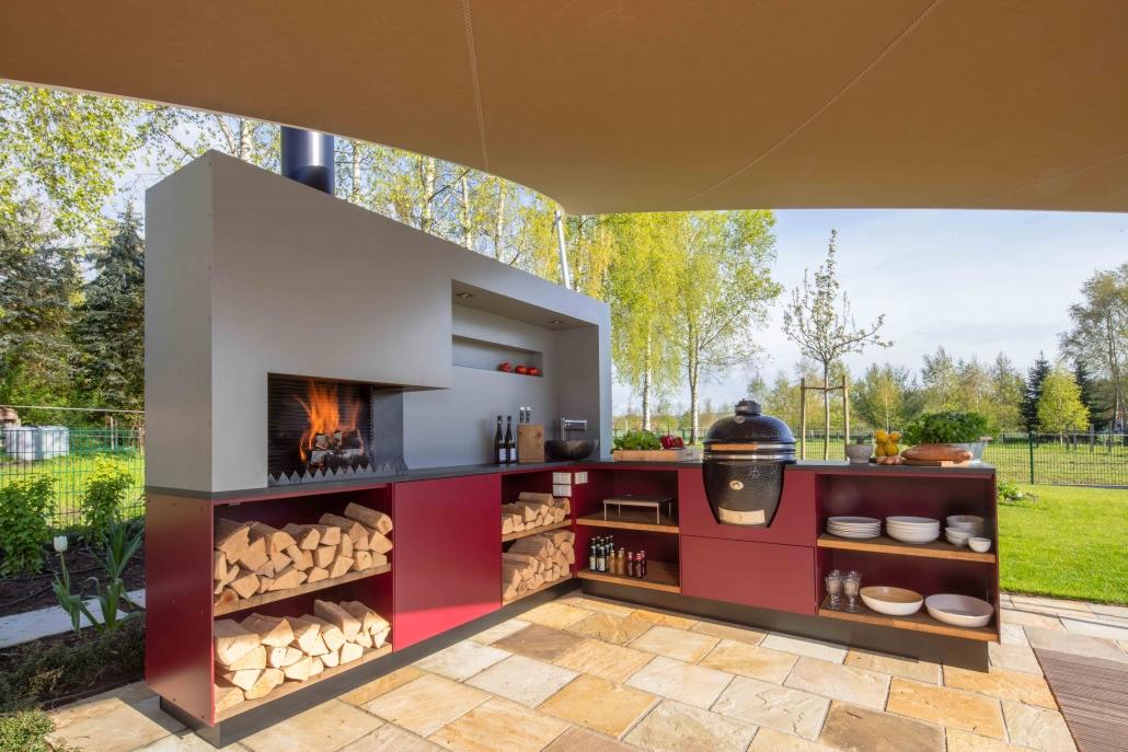 aeronautec Mehrpunkt Sonnensegel, Ganzjahressegel- wasserdicht, schneefest & sturmsicher | Outdoorküche