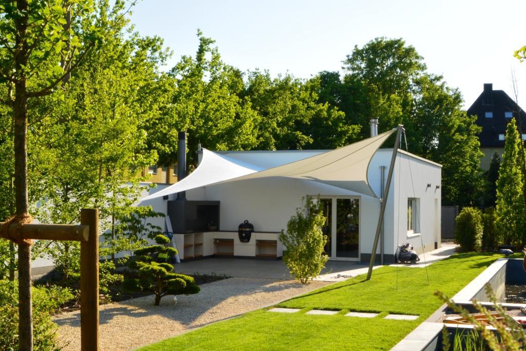 aeronautec Mehrpunkt- Sonnensegel, Ganzjahressegel- wasserdicht, schneefest & sturmsicher, Wetterschutz für die Terrasse- alternative zu einer Markise