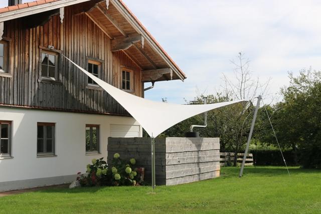 aeronautec Mehrpunkt- Sonnensegel, Ganzjahressegel- wasserdicht, schneefest & sturmsicher, Grillplatz Überdachung