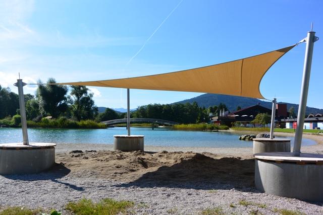 aeronautec Mehrpunkt Sonnensegel, Ganzjahressegel- Badepark Inzell, Spielplatzüberdachung