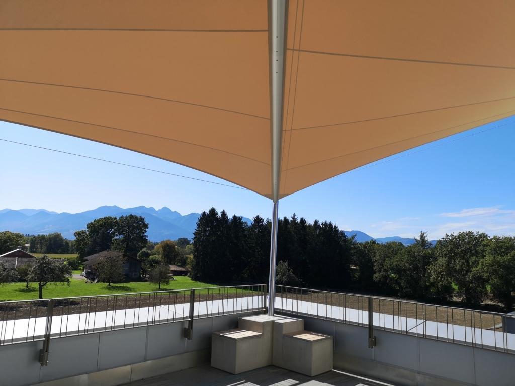 aerosun® Rollsegel, (Sun Furl System) Dachterrasse, elektrisch, Sonnenschutz, Sonnensegel aufrollbar