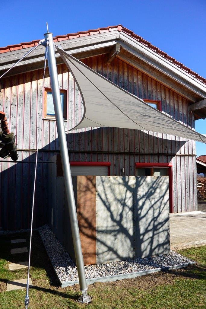 aeronautec Mehrpunkt Sonnensegel, Ganzjahressegel- wasserdicht, schneefest & sturmsicher