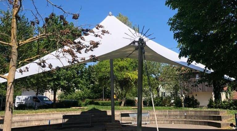 aeronautec Objektbau, Membranbau- Überdachung Veranstaltungen aus PVC, Tribühne
