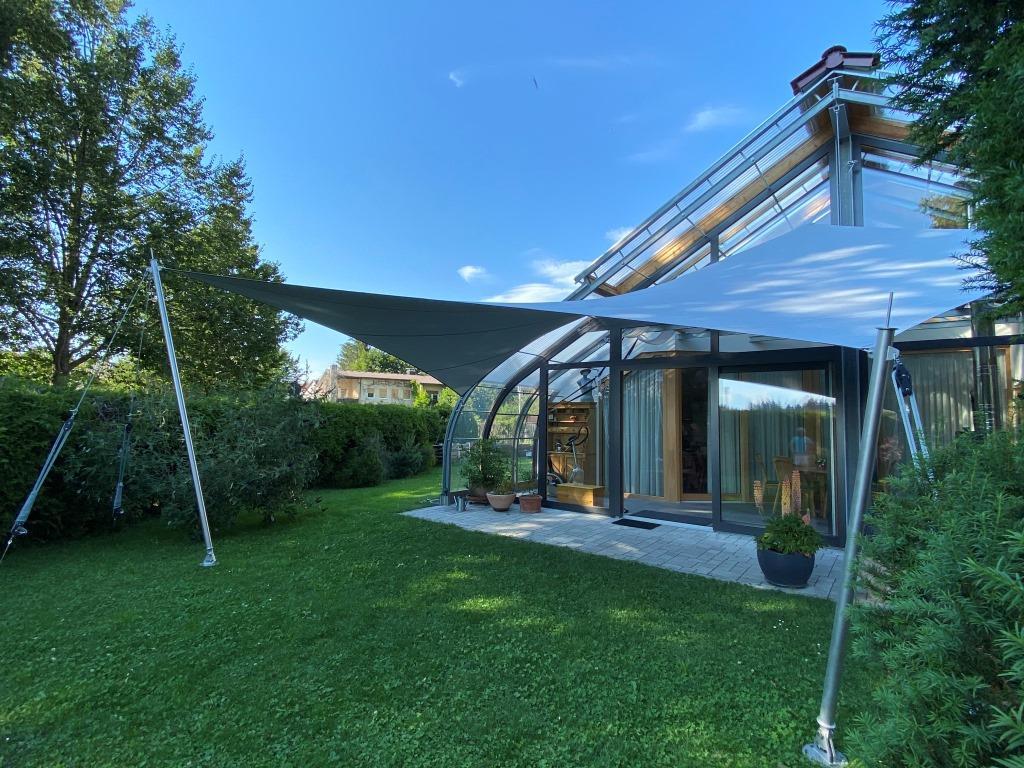 aerosun®180 Mehrpunkt Sonnensegel - wasserdicht & sturmsicher, Hausbau
