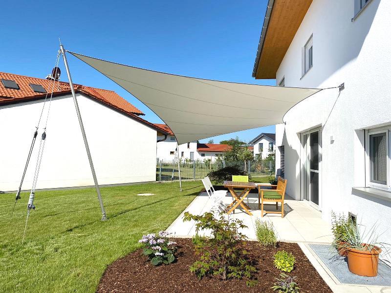 aeronautec Mehrpunkt Sonnensegel, Ganzjahressegel- wasserdicht & sturmsicher, Garten, moderner Hausbau