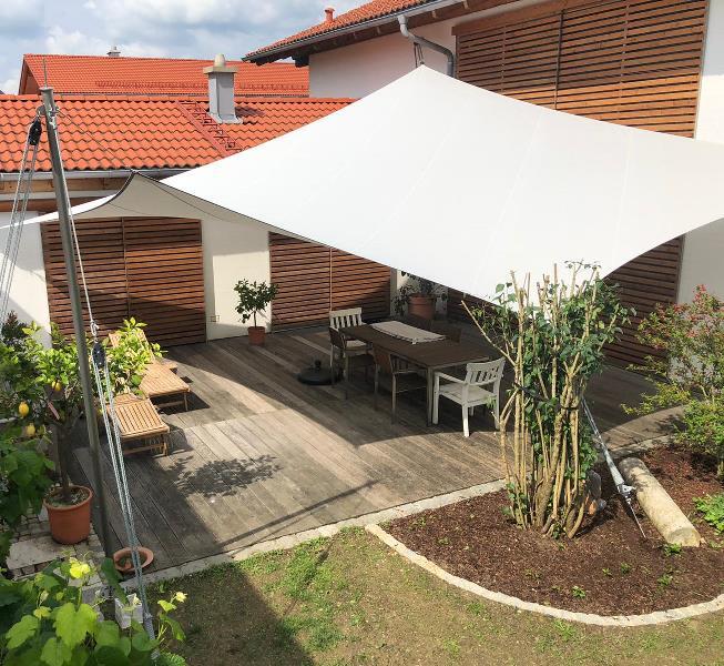 aeronautec Mehrpunkt Sonnensegel, Ganzjahressegel- wasserdicht & sturmsicher, Garten, Yoga