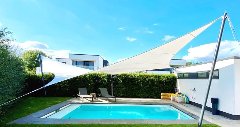 aeronautec- Mehrpunkt- Sonnensegel, Wetterschutz, wasserdicht, Pool