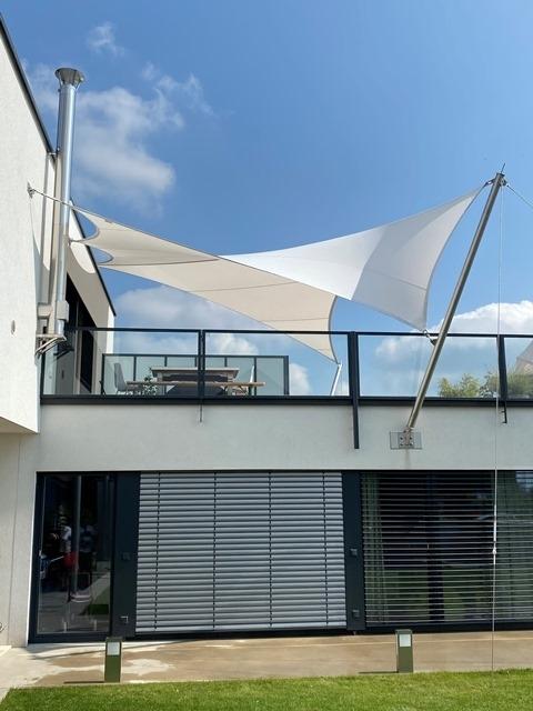 aeronautec Mehrpunkt Sonnensegel, Ganzjahressegel- wasserdicht, schneefest & sturmsicher, Dachterrasse Überdachung
