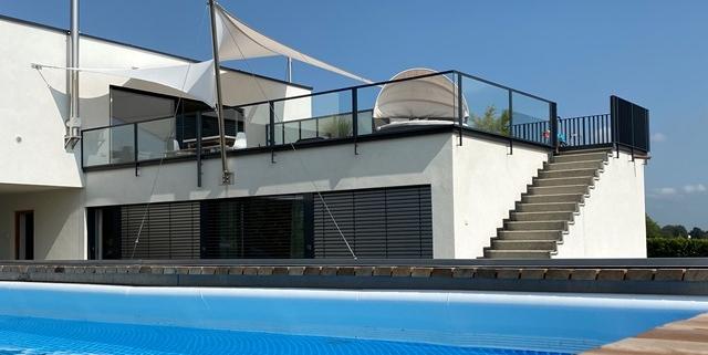 aerosun® 365 Mehrpunkt - Sonnensegel - wasserdicht & sturmsicher. Hochterrasse. Dachterrasse.