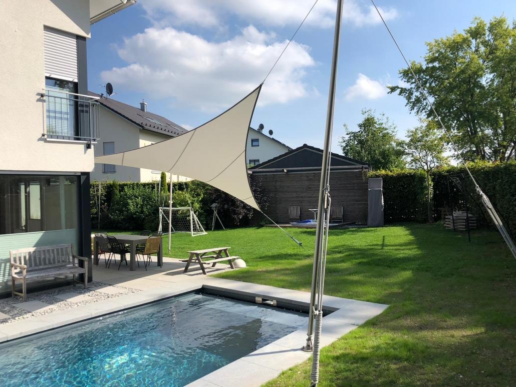 aeronautec Mehrpunkt- Sonnensegel, Ganzjahressegel- wasserdicht, schneefest & sturmsicher, Wetterschutz für die Terrasse- Poolbereich, Terrasse, Gartenplanung