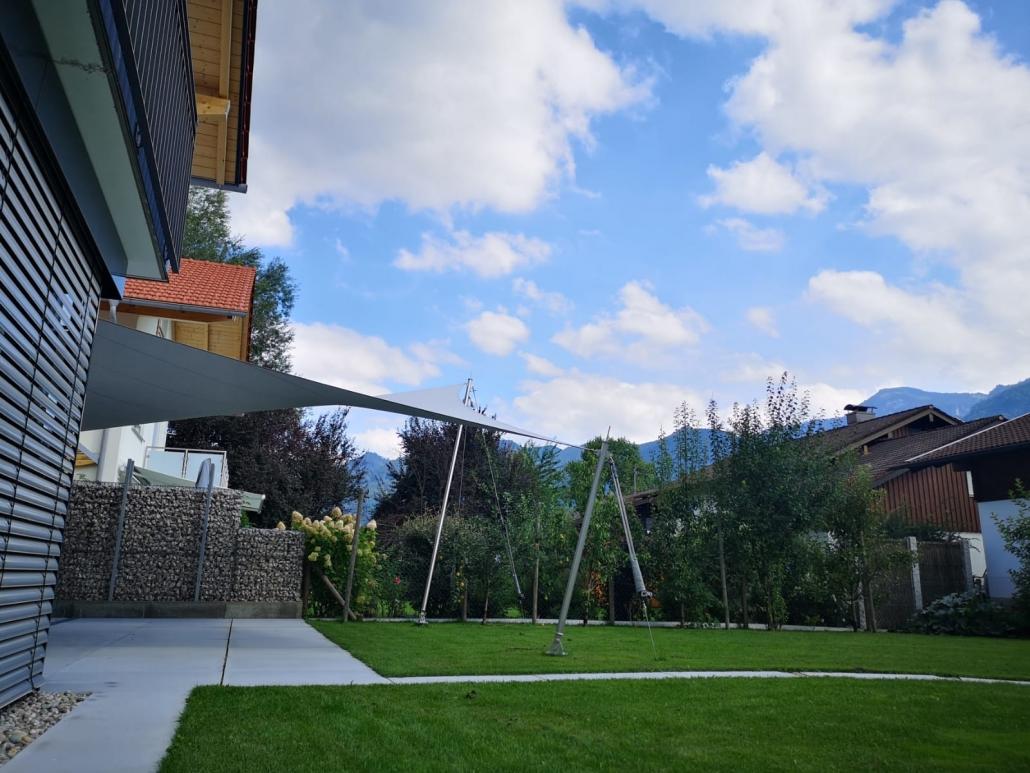 aeronautec Mehrpunkt- Sonnensegel, Ganzjahressegel- wasserdicht, schneefest & sturmsicher, Wetterschutz für die Terrasse- alternative zu einer Markise, Sonnensegel nach Maß
