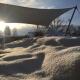 Winteraufnahme Sonnensegel aeronautec