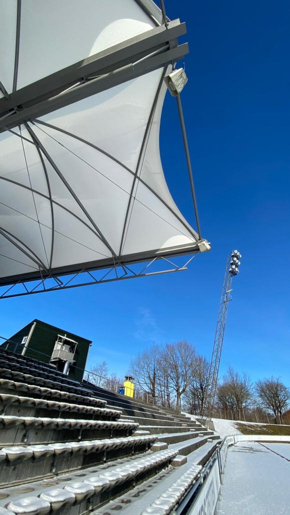 football stadium - roof for the grandstand