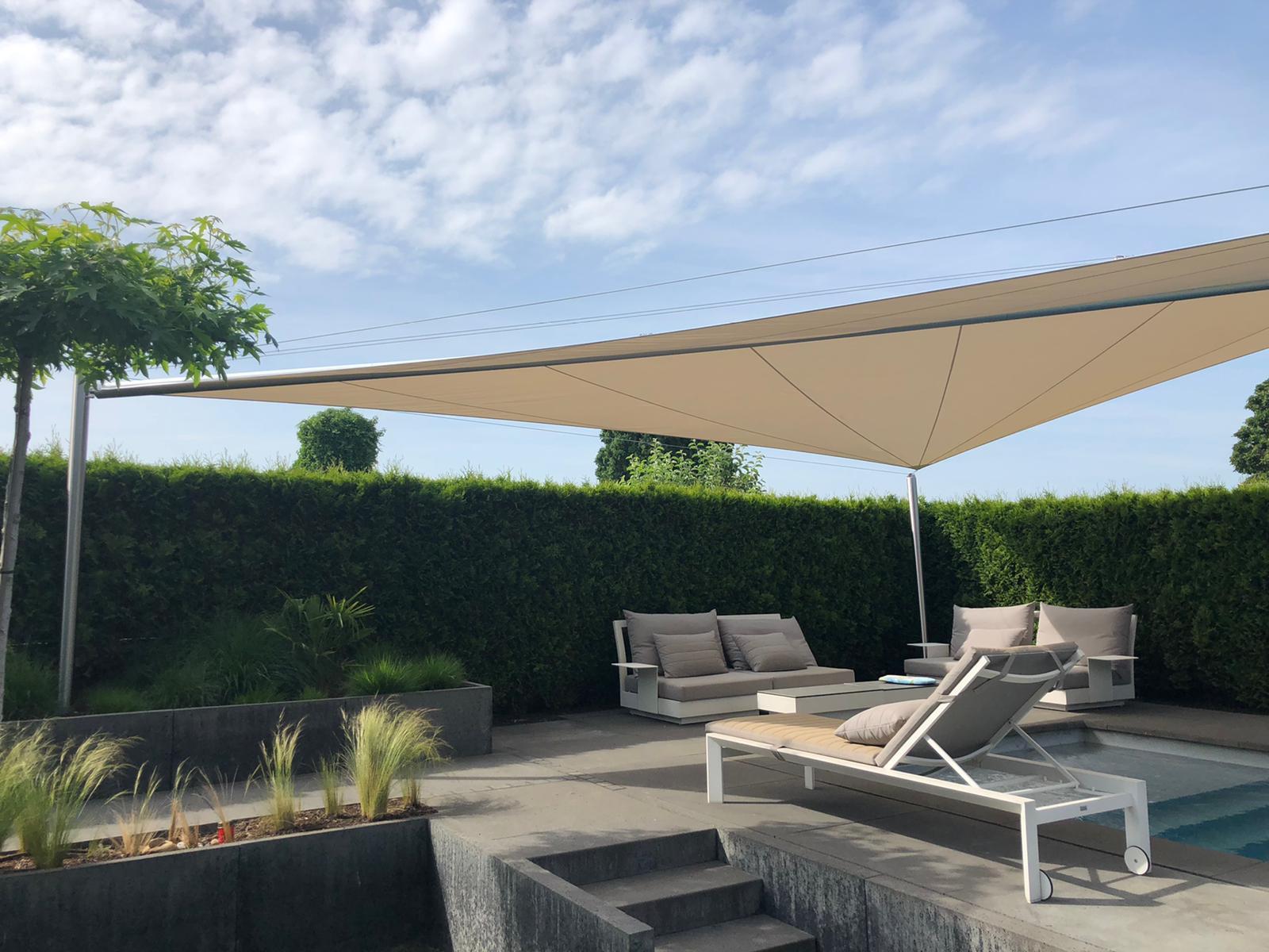 aerosun® roller sail (Sun Furl System), Pool and Outdoorlounge