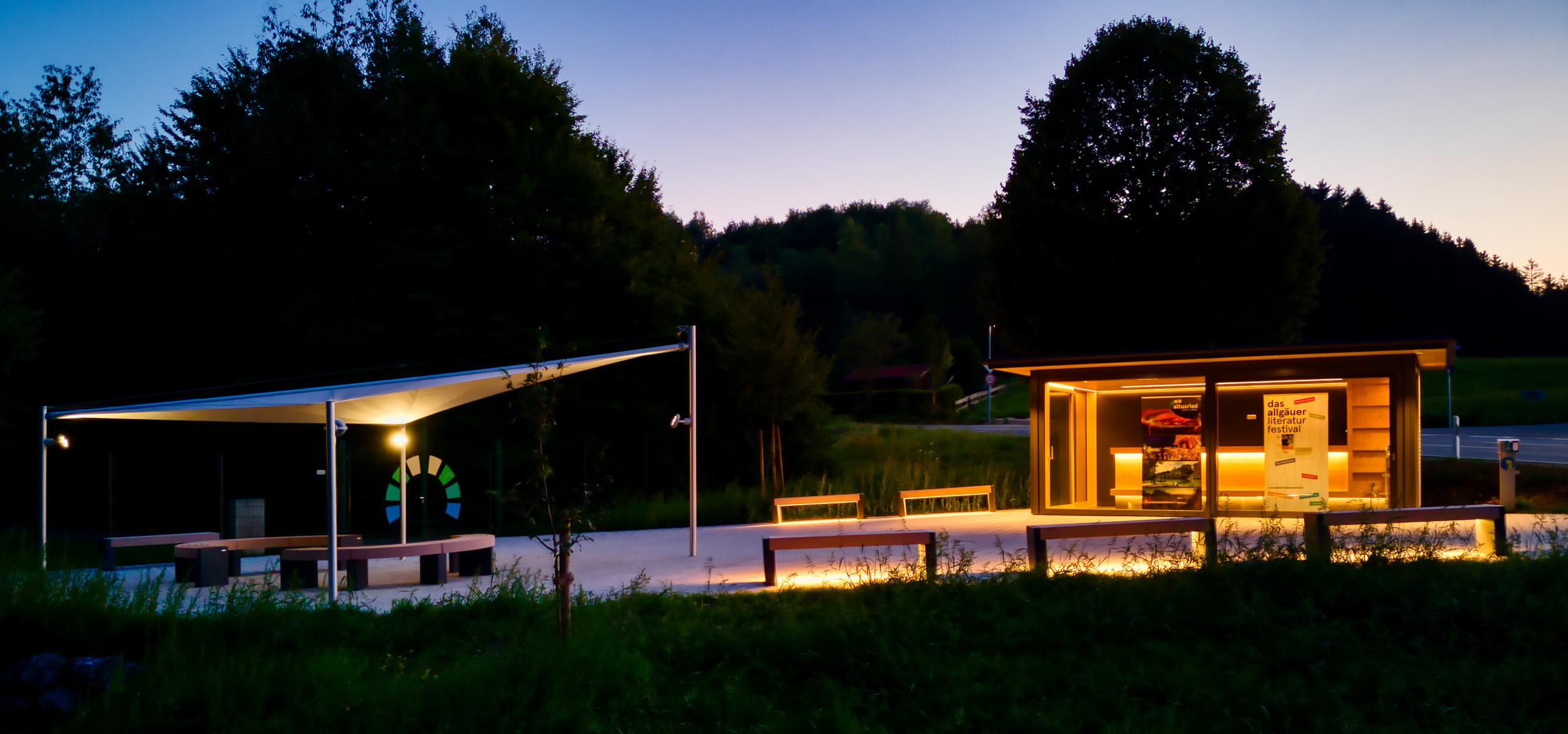 aerosun® Rollsegel (Sun Furl System), 36 m², Freilichtbühne